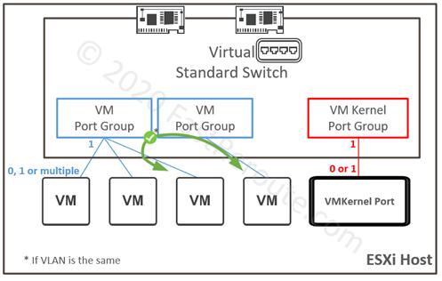 VM Port Groups and VM Kernel Port Groups