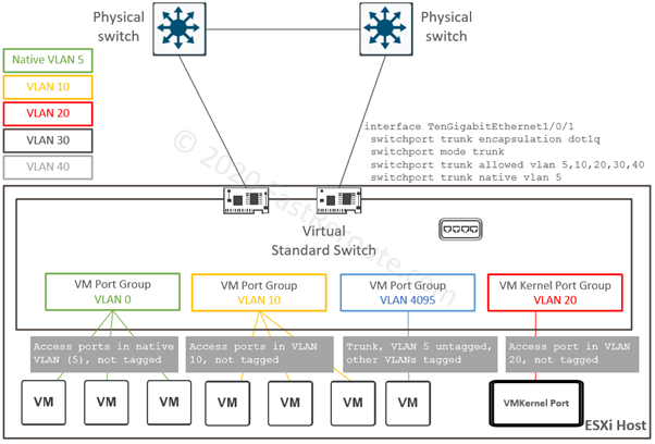 Virtual Standard Switch and VLANs