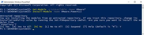 Install-Module -Name VMware.PowerCLI