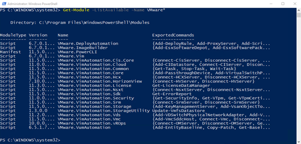 Validate that VMware PowerCLI has been installed