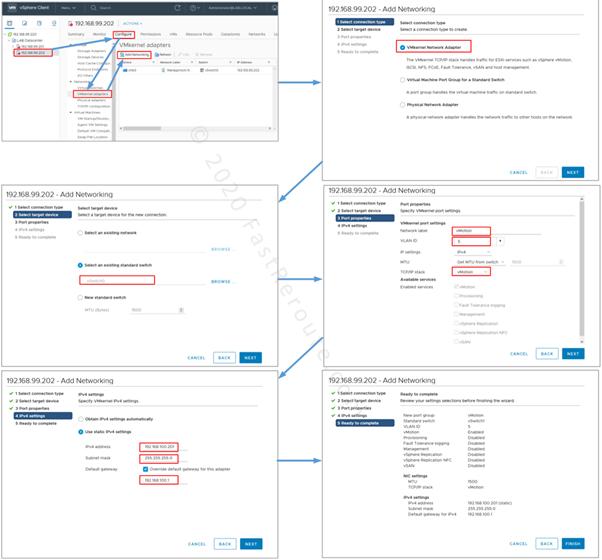 Figure 12. vCenter Configuration – Create a VMKernel NIC