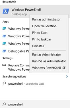 Start Windows PowerShell
