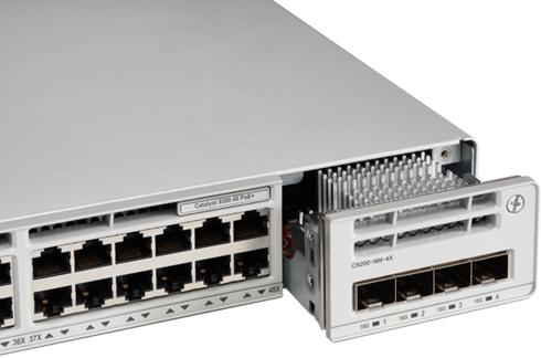 Cisco Catalyst 9200 switch with 4x 10GE SFP module