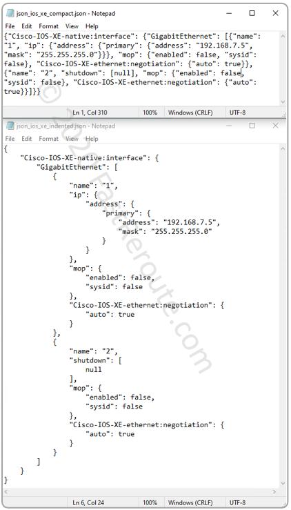 Figure 5. JSON text decoded by Python's json.dumps()