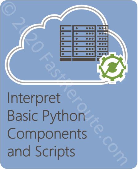 Interpret Basic Python Components and Scripts